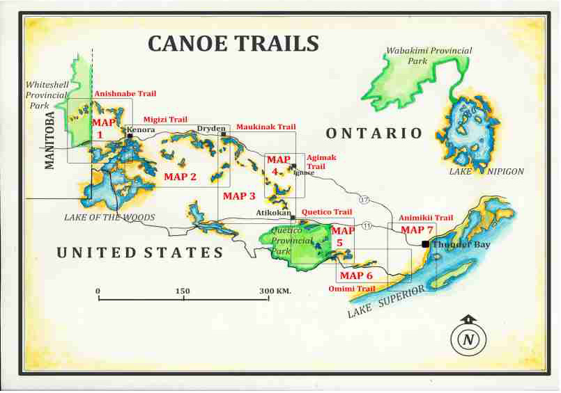 Canoe Trails Map